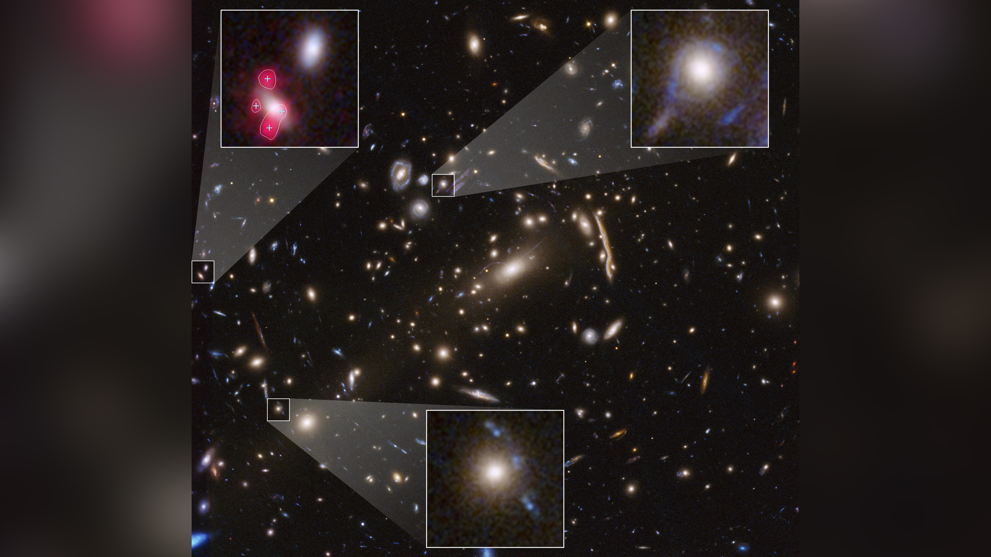 Hubble images reveal new aspect of mysterious dark matter in the universe