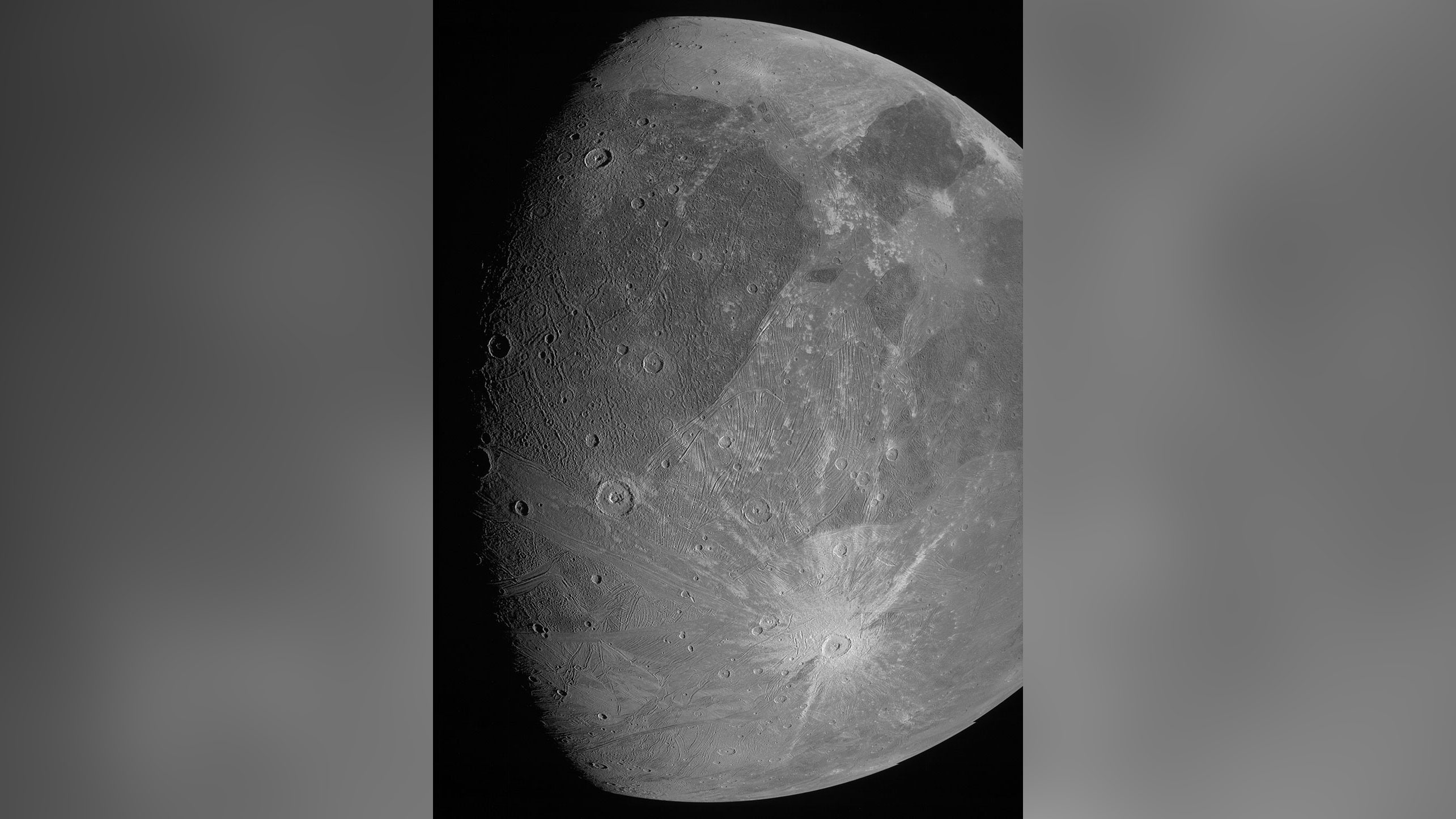 NASA's Juno mission captures first closeup images of Jupiter's largest moon in a generation