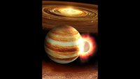 When Jupiter was young, a massive planet likely slammed into it