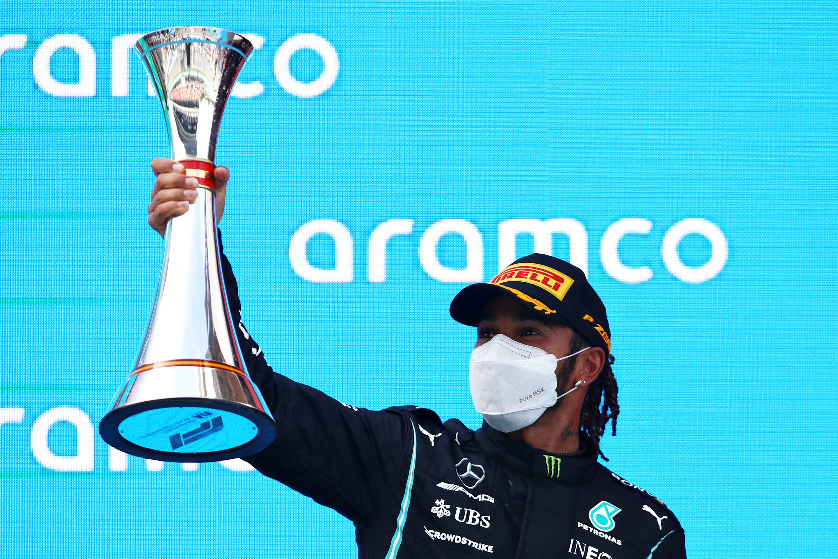 Lewis Hamilton recovers to overtake Max Verstappen and win fifth straight Spanish Grand Prix
