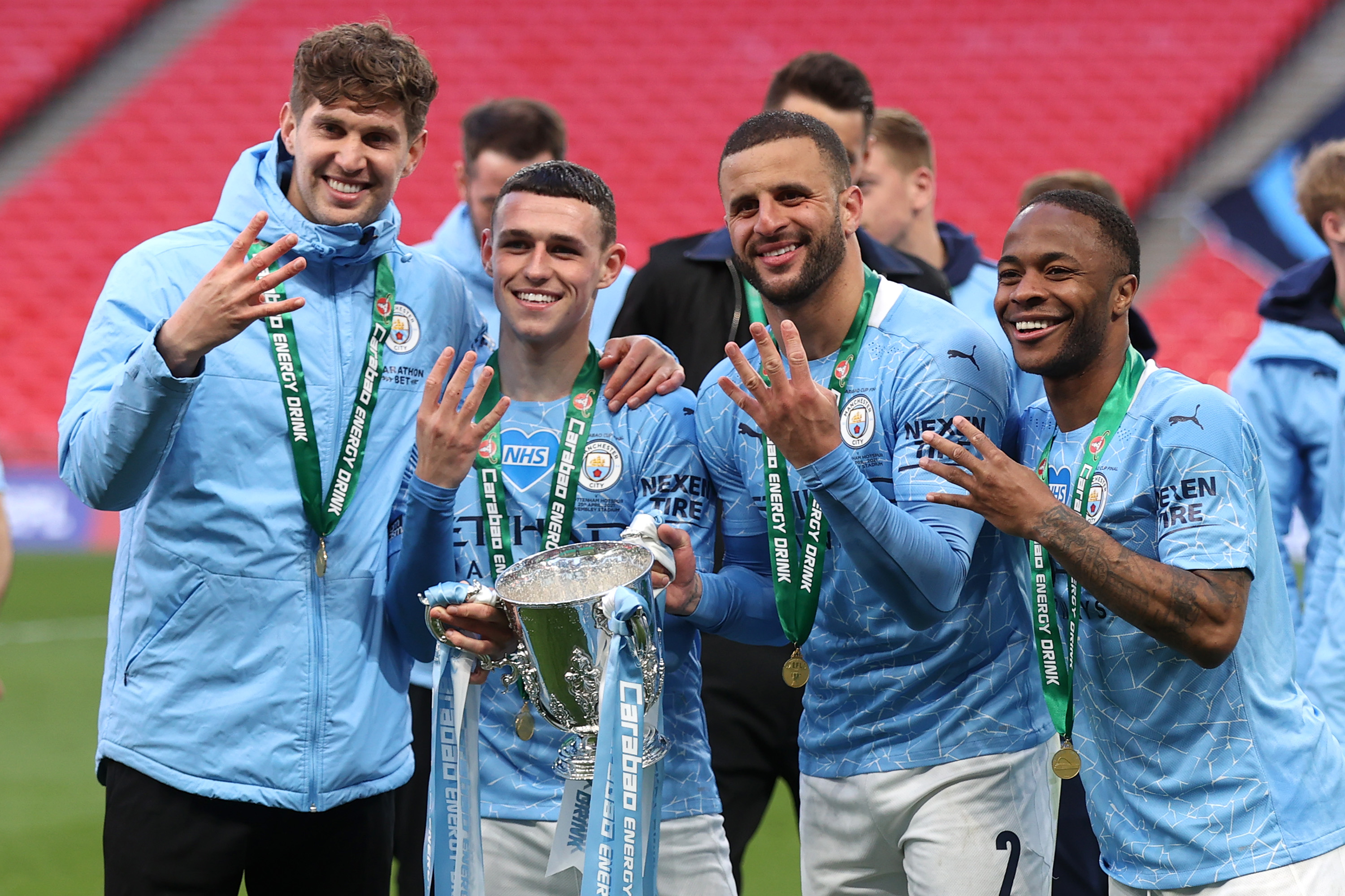 Manchester City clinches fourth consecutive League Cup title as fans return to Wembley Stadium