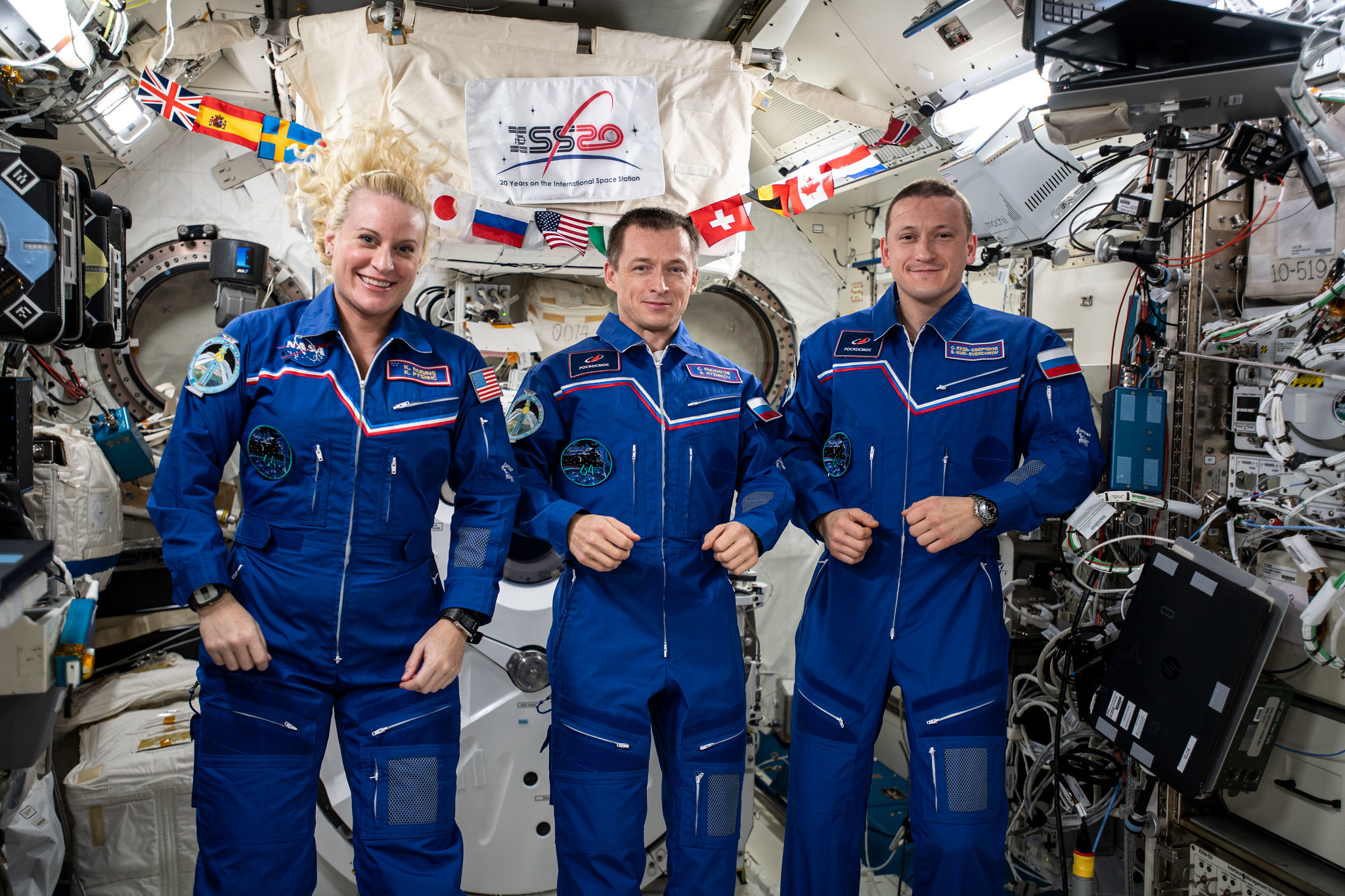 NASA astronaut Kate Rubins and two Russian cosmonauts have landed back on Earth