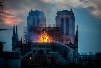 Streets around Notre Dame Cathedral in Paris are shut down to be decontaminated for lead