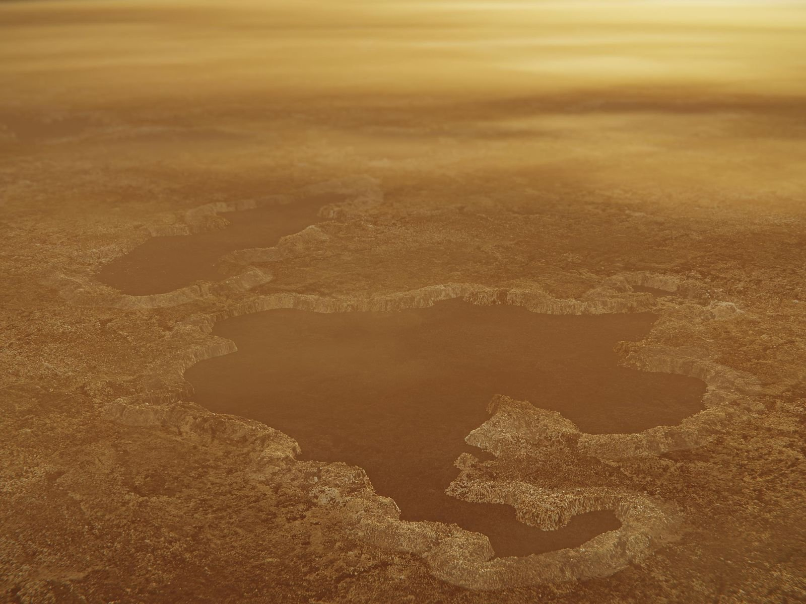 Lakes on Saturn's moon may be explosion craters