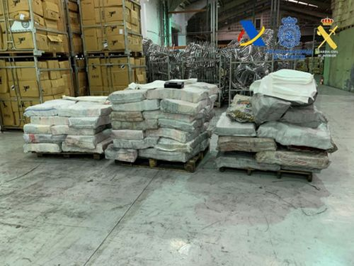 Image for Spanish police seize more than 2 tons of cocaine hidden in charcoal