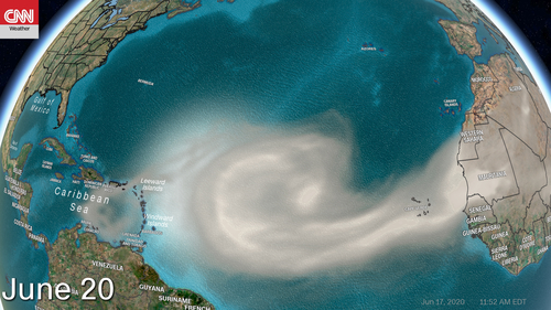 Image for Saharan Dust from Africa will stretch toward the US, putting the hurricane season on pause