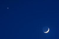 How to see Venus and a crescent moon side-by-side this Thursday