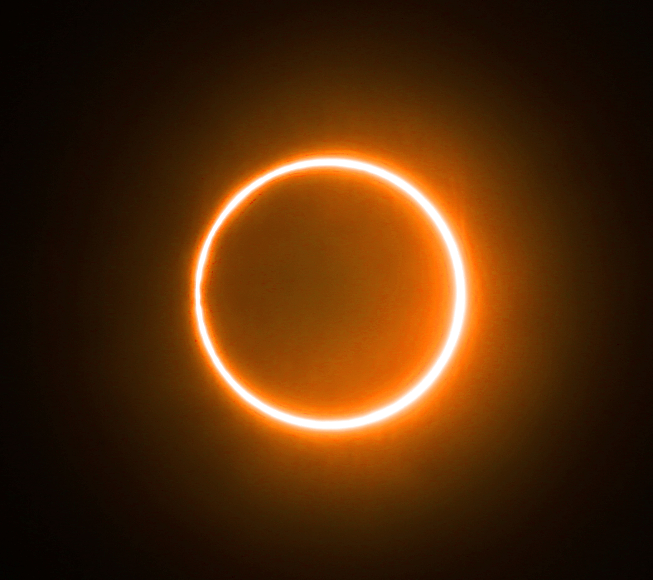 'Ring of fire' solar eclipse lights up the sky