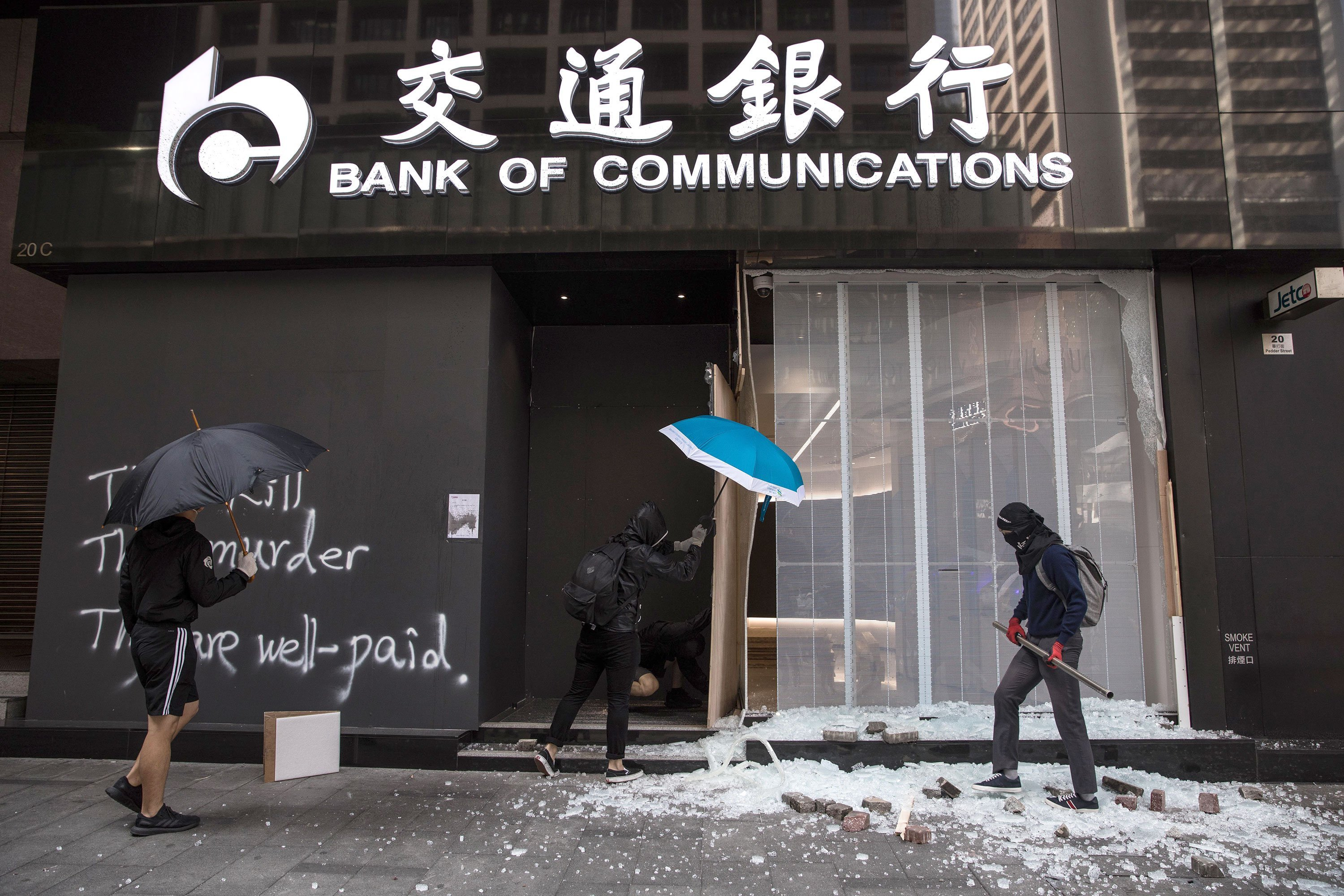 Protests are rattling Hong Kong. But companies aren't abandoning the city yet