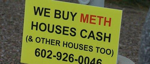 Image for 'We Buy Meth Houses' signs turning heads, violating ordinances around AZ