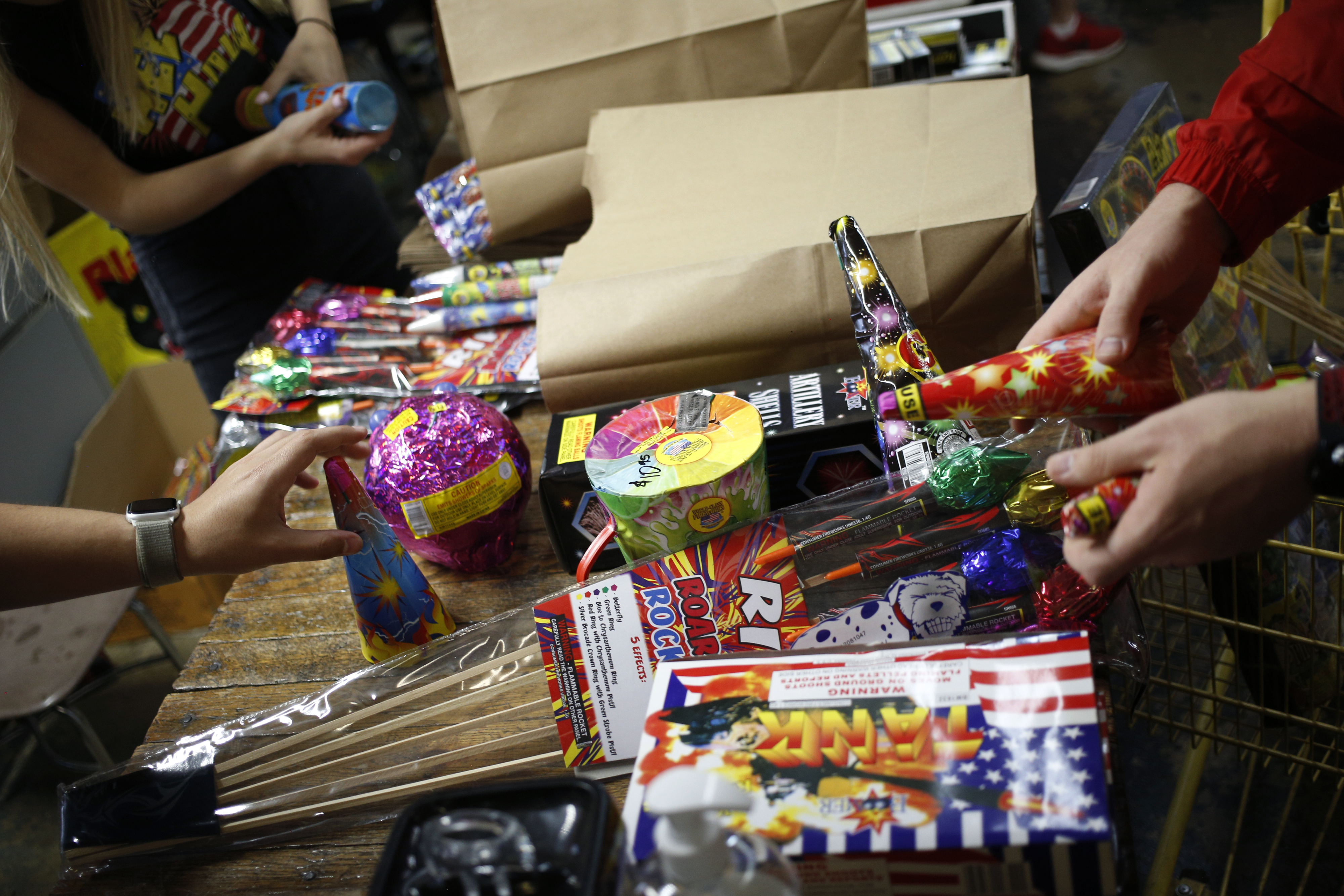 Some consumer fireworks emit high levels of lead and other toxins, a new study finds