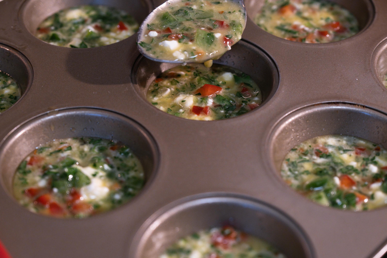 Vegetable Frittata Egg Muffins