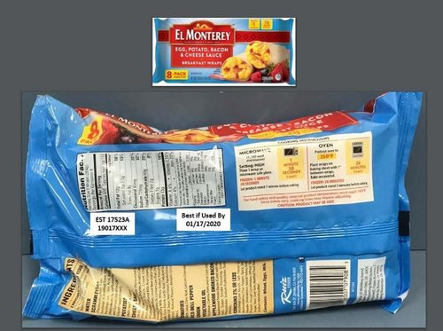 Image for More than 246,000 pounds of breakfast wraps recalled because they may have small rocks