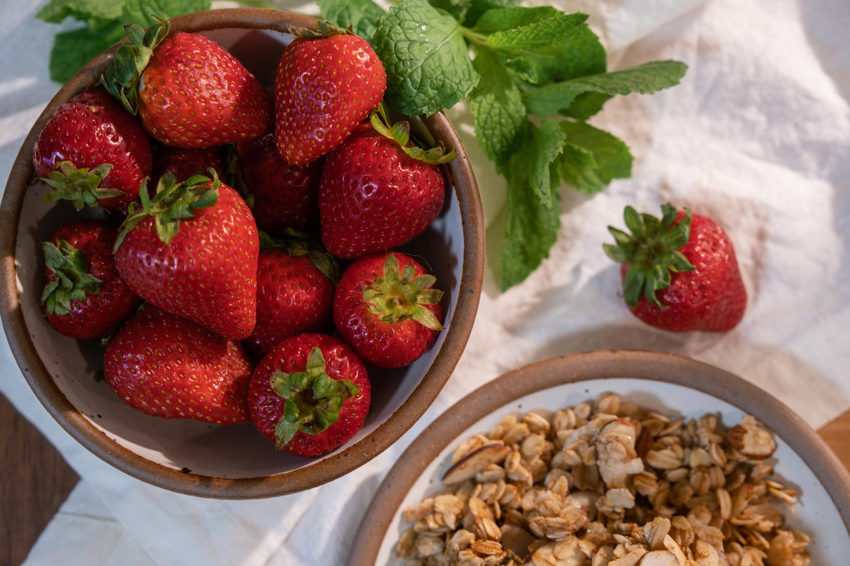 Strawberry Ricotta Granola Parfaits