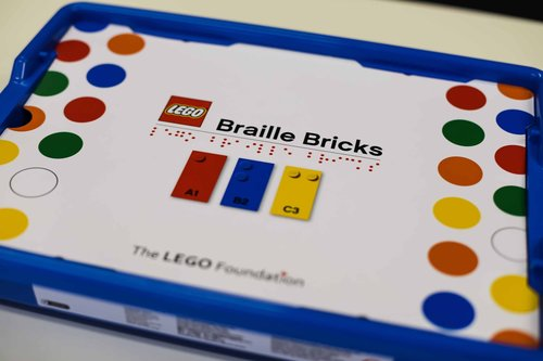 Image for Lego releases Braille bricks to teach blind and visually impaired children