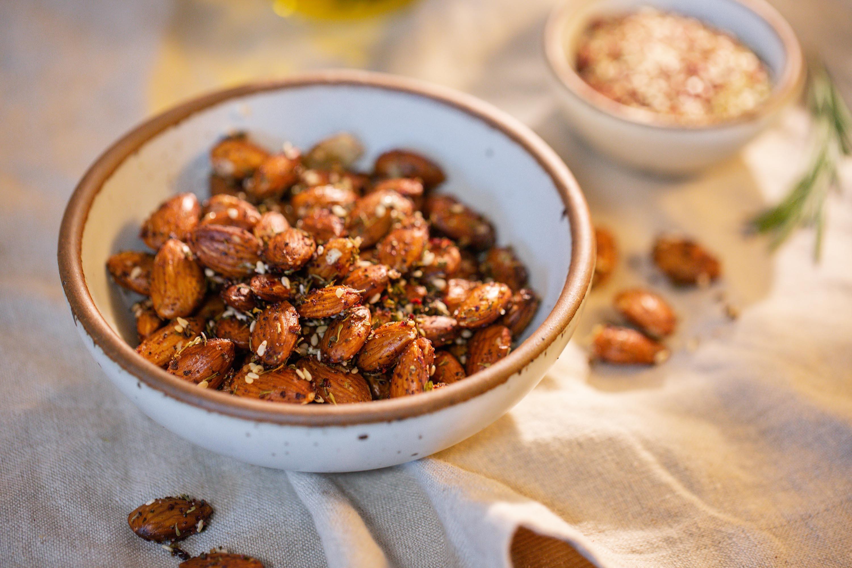 Za'atar and Rosemary Spiced Roasted Almonds