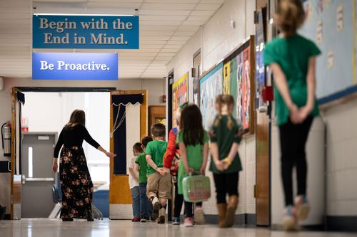 Image for Teachers' unions are cautious about the new CDC guidelines on social distancing in schools