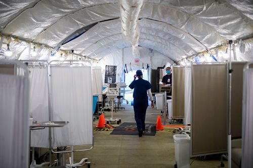 Image for A year fighting a global pandemic leaves US hospitals in shambles, new report finds