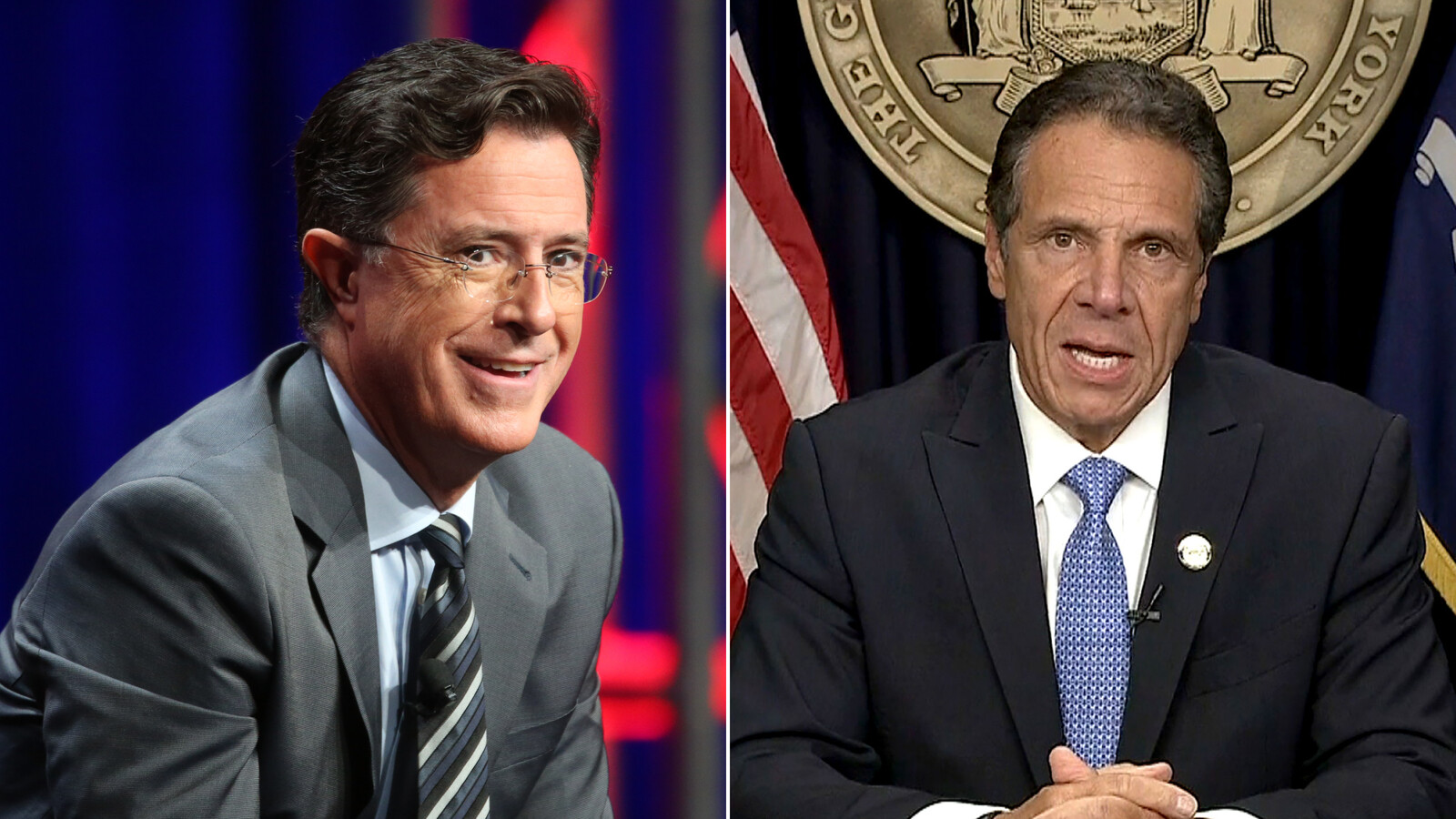 Stephen Colbert's message for Andrew Cuomo: Don't let the door hit you in the butt