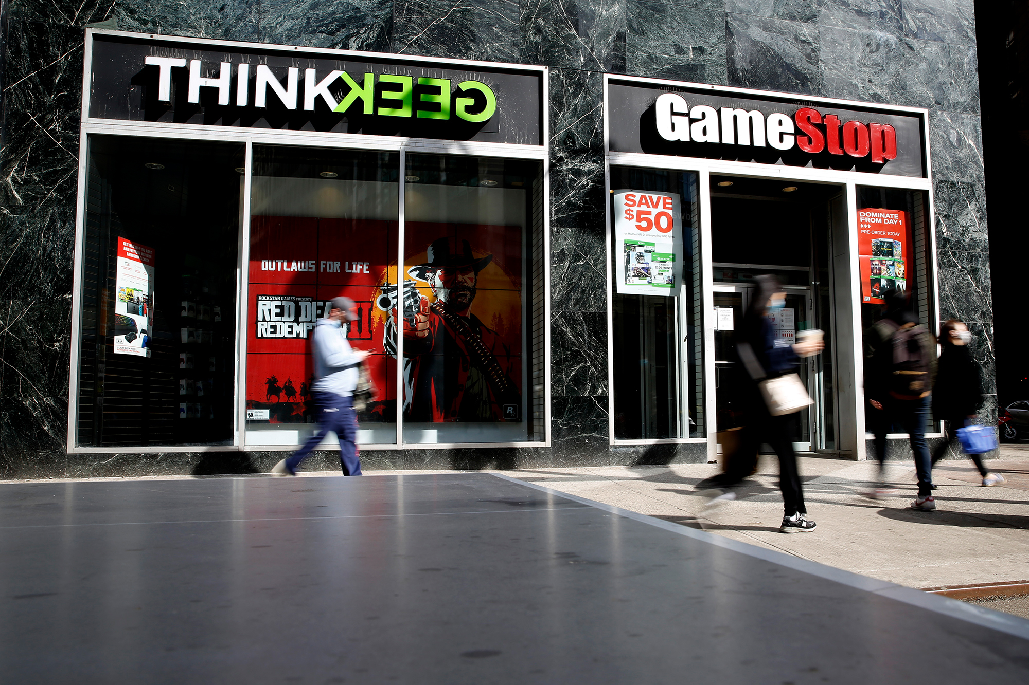 GameStop CEO George Sherman is stepping down, sending the stock soaring