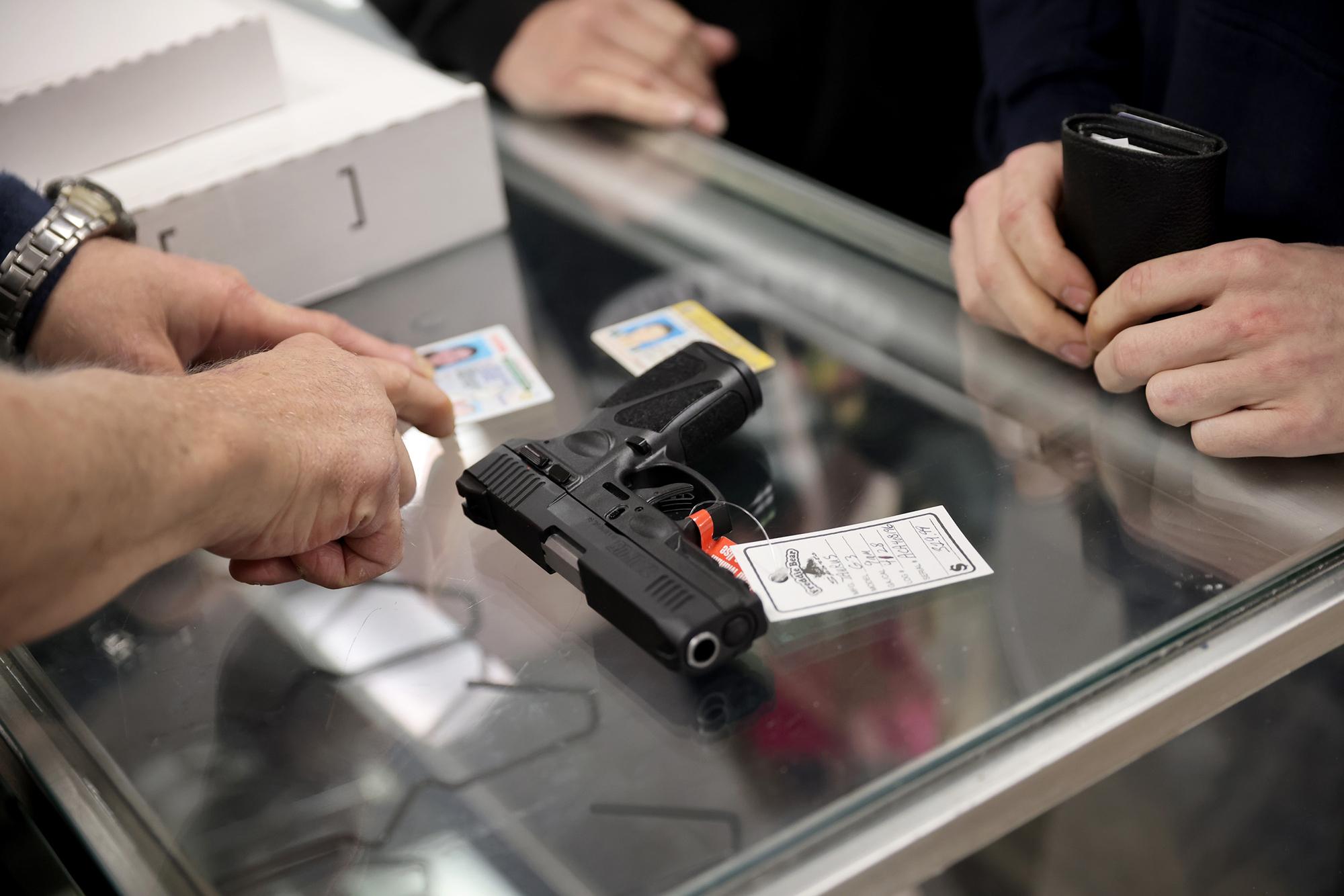 Gun background checks soared in April