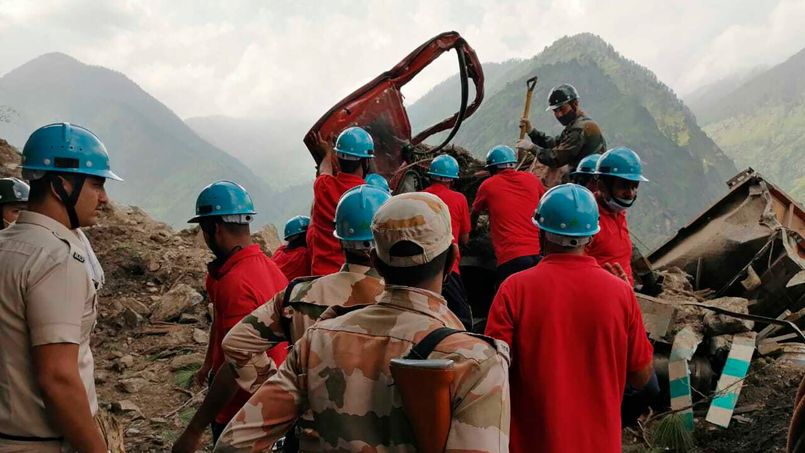 At least 15 dead after landslide hits highway in northern India