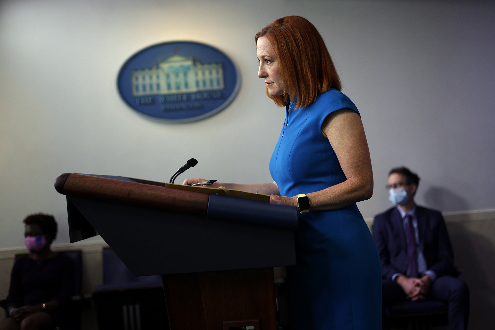 Jen Psaki says she talked with the Biden transition team about a roughly one-year term