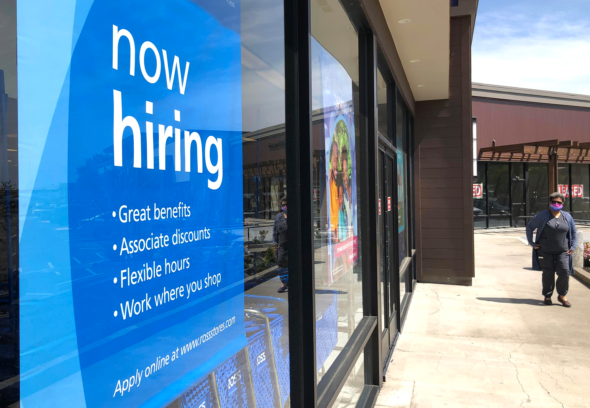 Jobless claims fell more than expected last week, hitting a pandemic low
