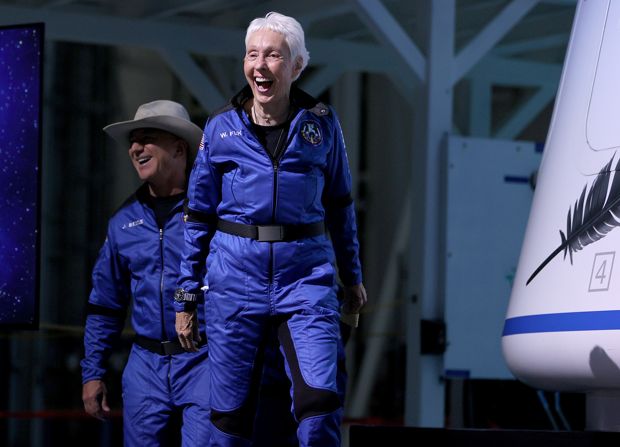 Meet Wally Funk, the 82-year-old pilot who just went to space with Jeff Bezos