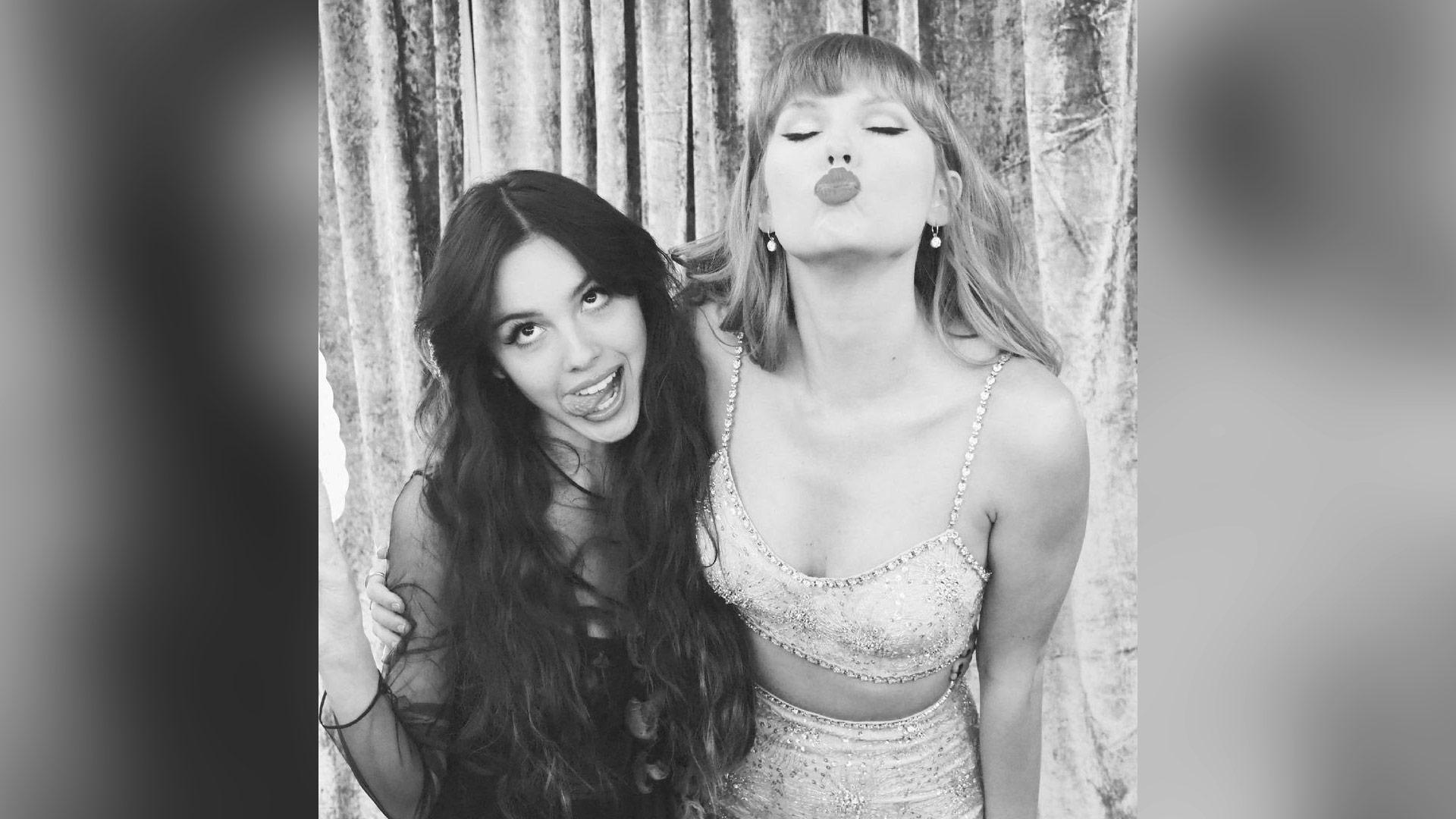 Taylor Swift and Olivia Rodrigo met at the BRIT Awards