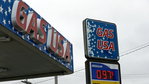 Image for Gas prices fall below $2 a gallon on average in the United States