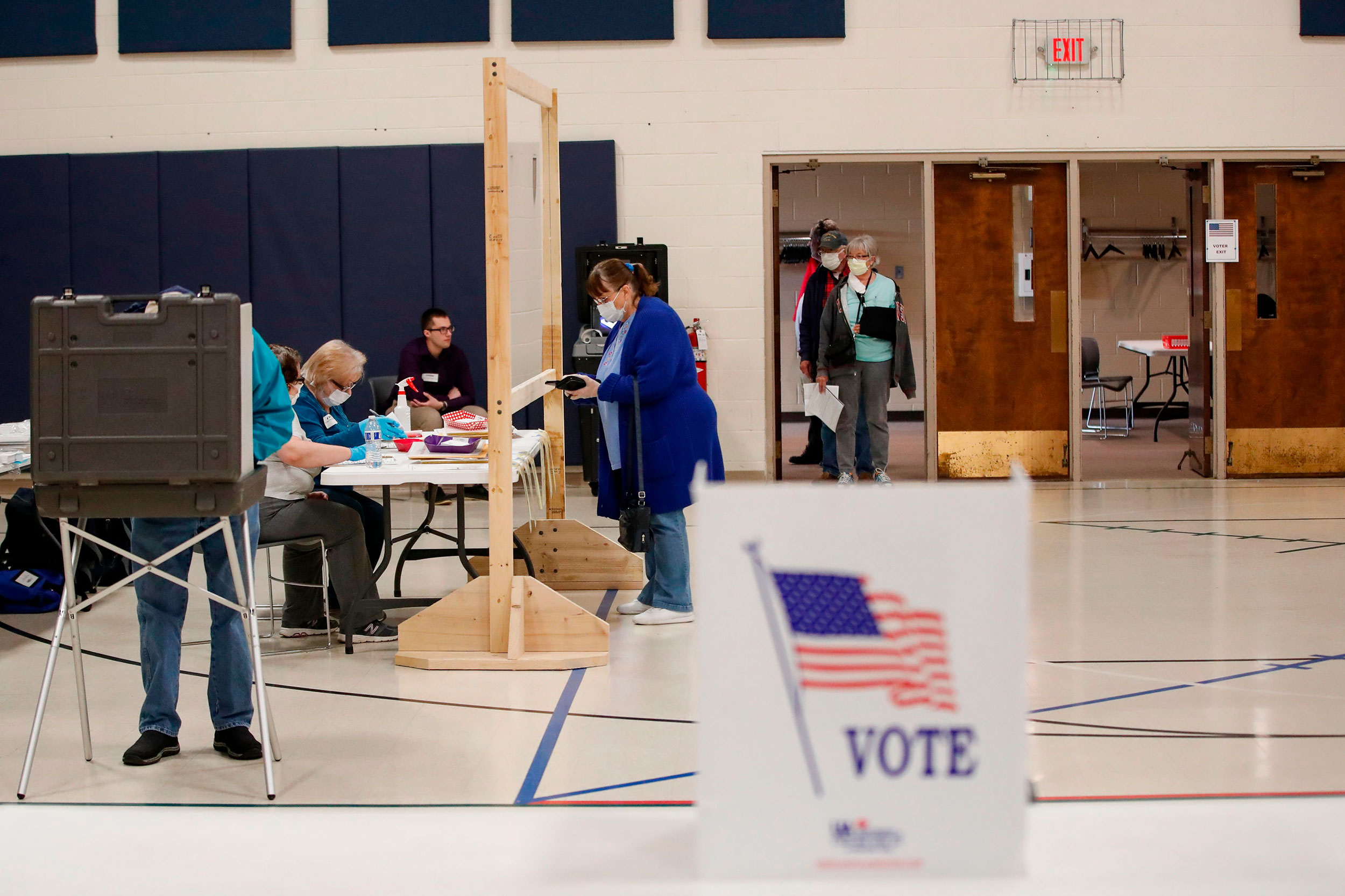 Poll worker recruitment picks up as officials prepare for in-person voting