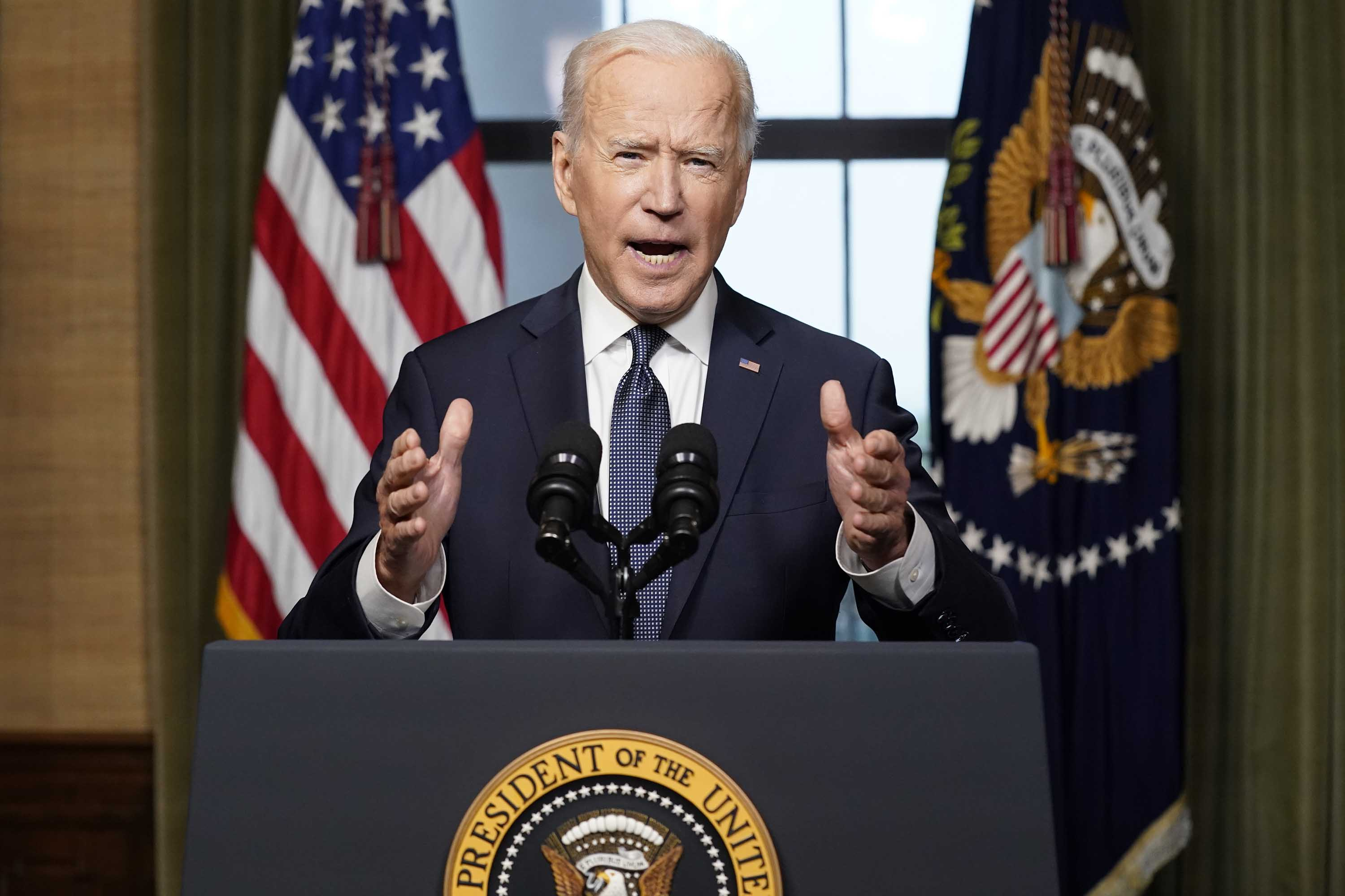 Biden promises Afghan leaders 'we're going to stick with you' as US pulls troops out