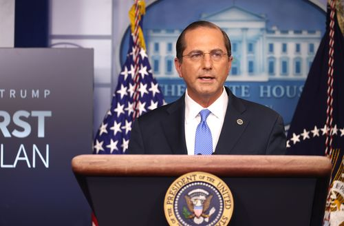 Image for HHS Secretary Alex Azar complains of tarnished legacy in resignation letter to Trump