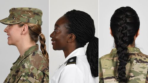 Image for US Army will allow female soldiers to wear ponytails in all uniforms