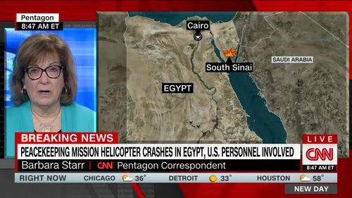 Image for Army identifies 5 Americans killed in helicopter crash involving peacekeeping force in Egypt