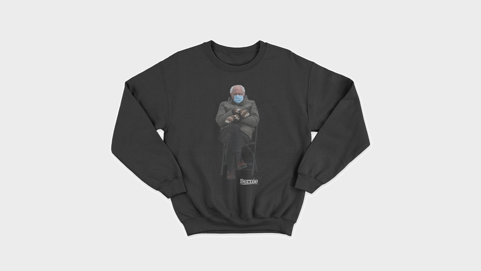 Bernie Sanders turns inauguration meme into sweatshirt for charity