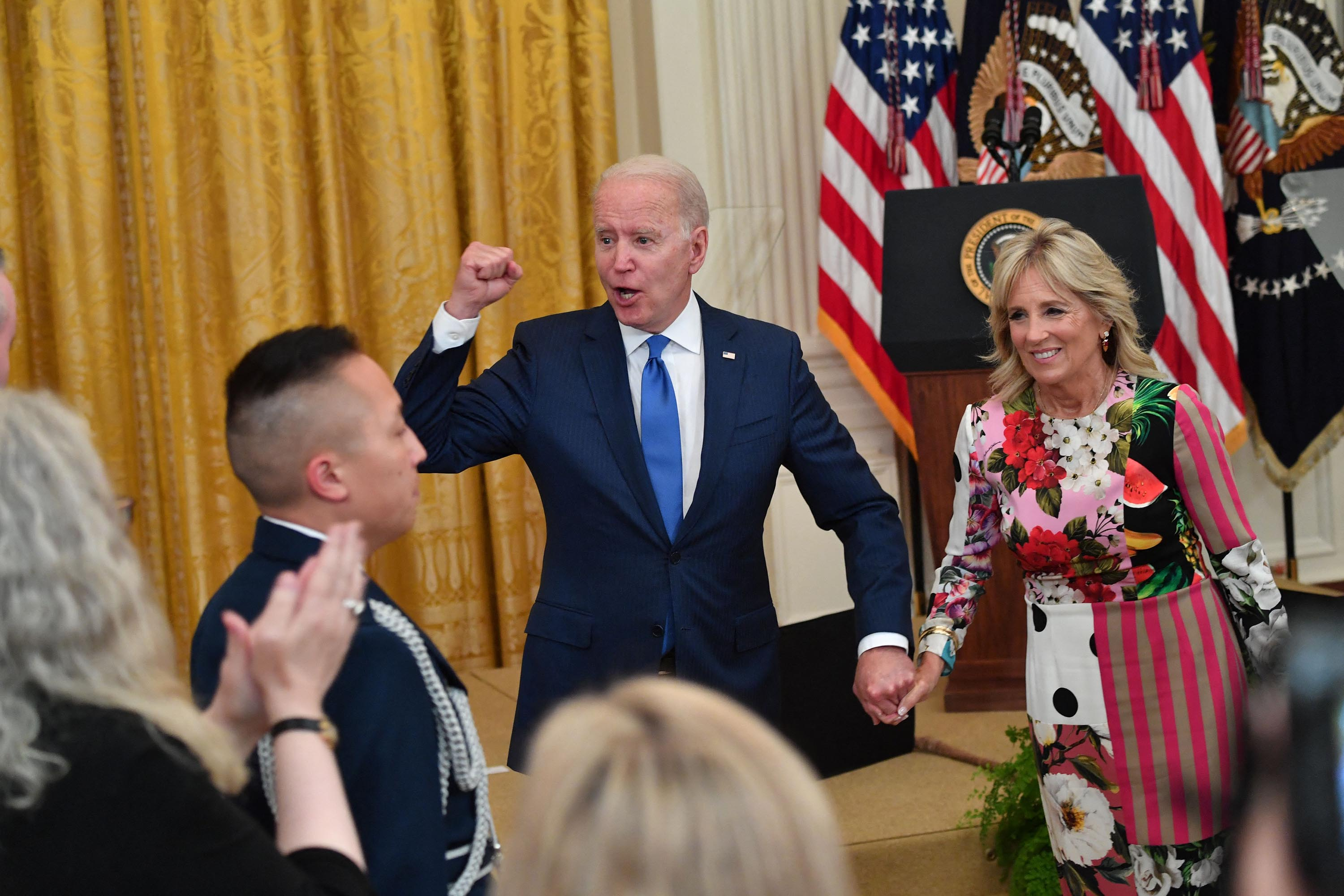 Biden touts US coronavirus progress at July 4 White House event: 'America is coming back together'