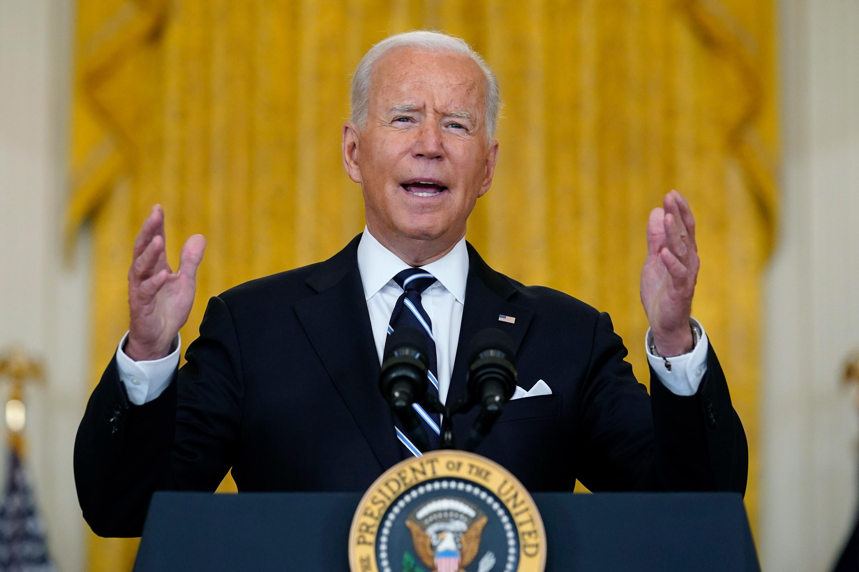 Biden suggests US troops could stay in Afghanistan past withdrawal deadline to ensure evacuation of all Americans