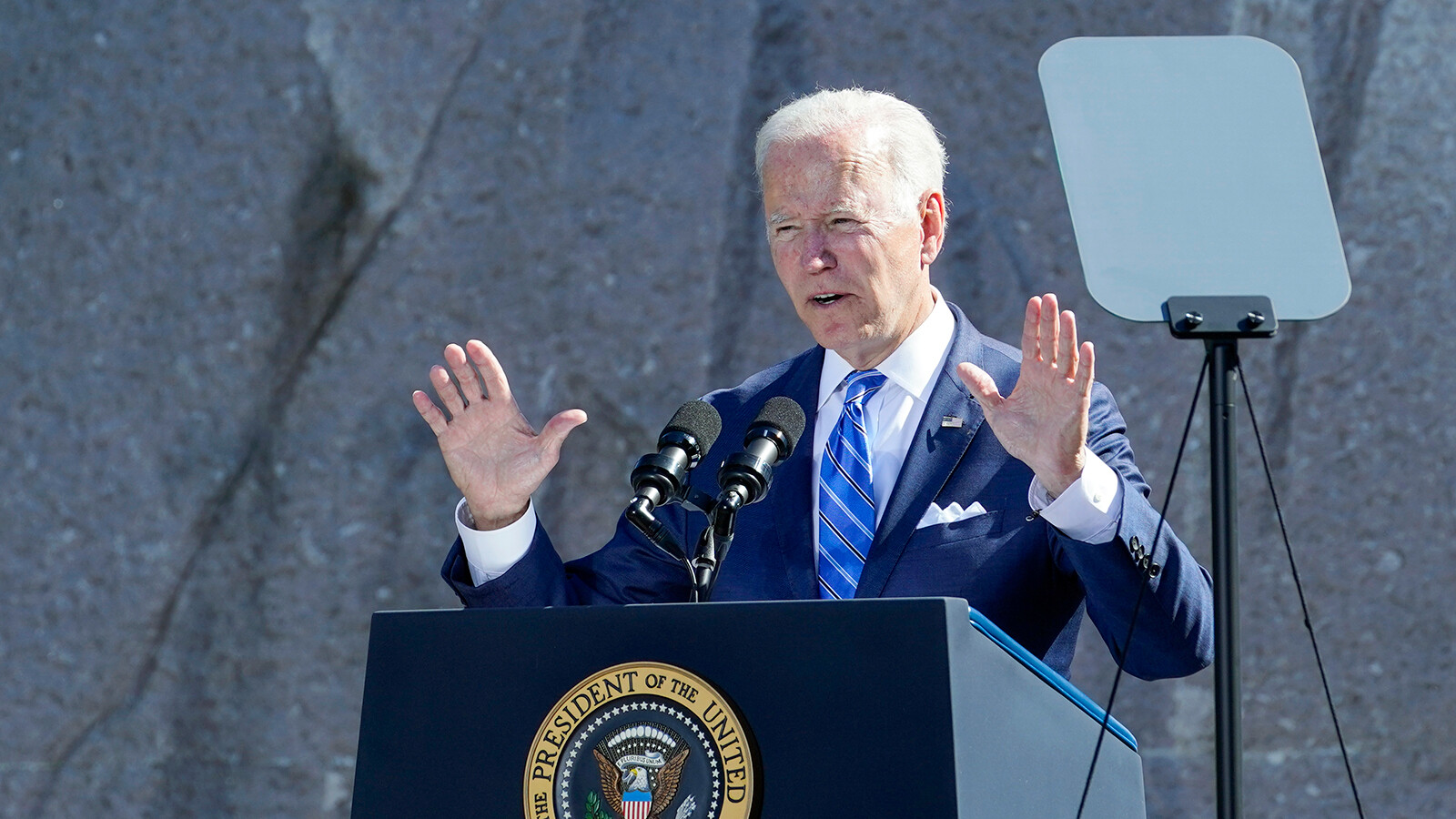 Biden says US facing an inflection point in the battle for the soul of America