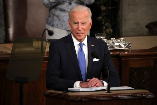 Image for Biden sets goal of administering at least one Covid-19 vaccine shot to 70% of US adult population by July 4