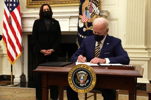 Image for Here are the executive orders Biden has signed so far