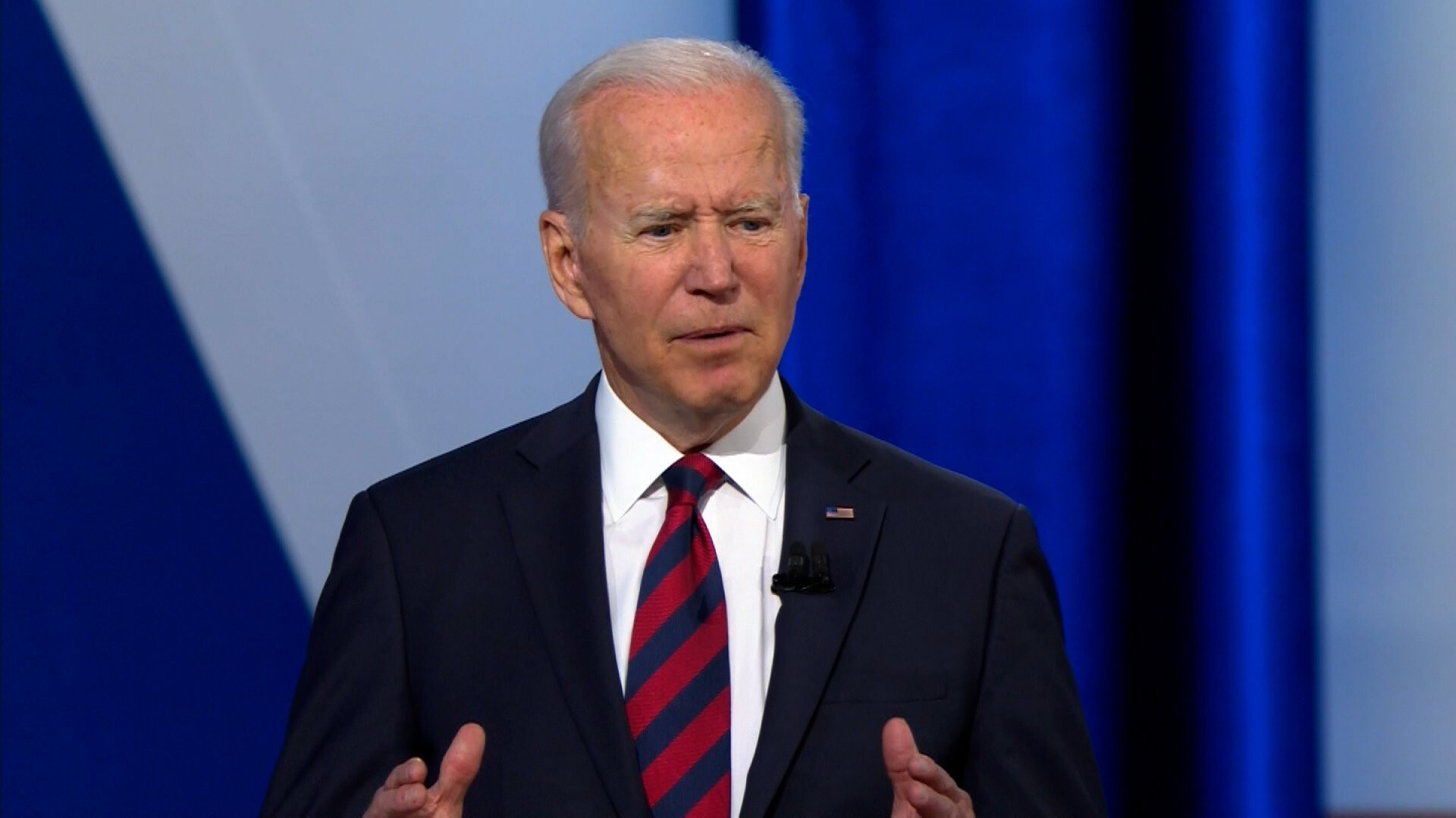 Biden slams attempts to curb voting rights but says he isn't ready to call for an end of the filibuster