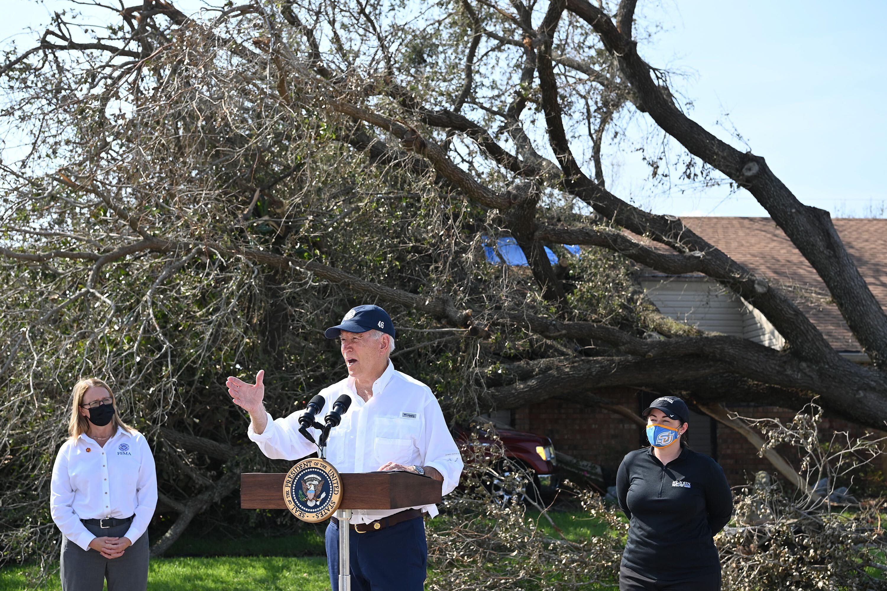 Biden on Hurricane Ida relief efforts: 'We're not going home til this gets done'