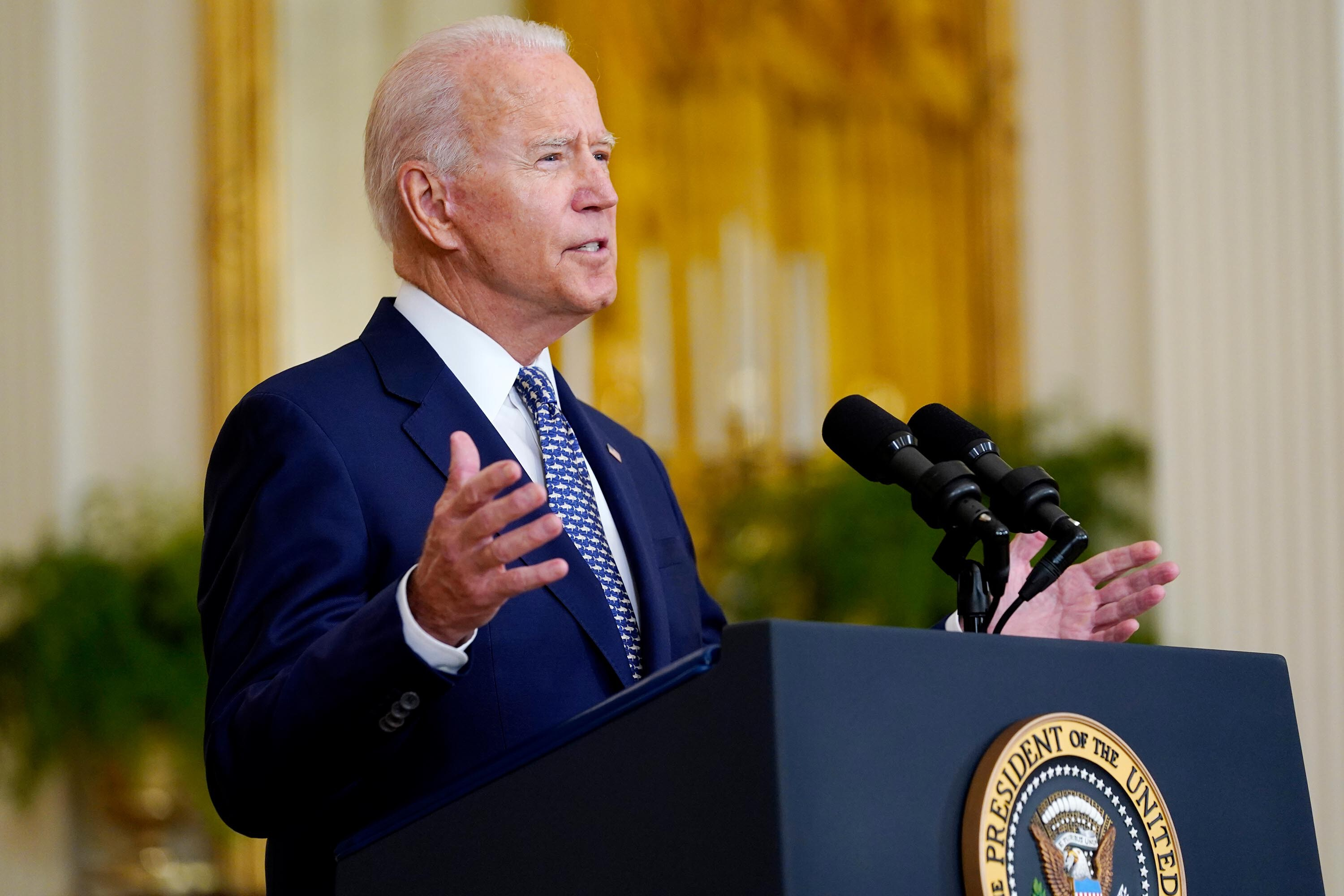 Biden tackles inflation concerns as he touts wins on infrastructure