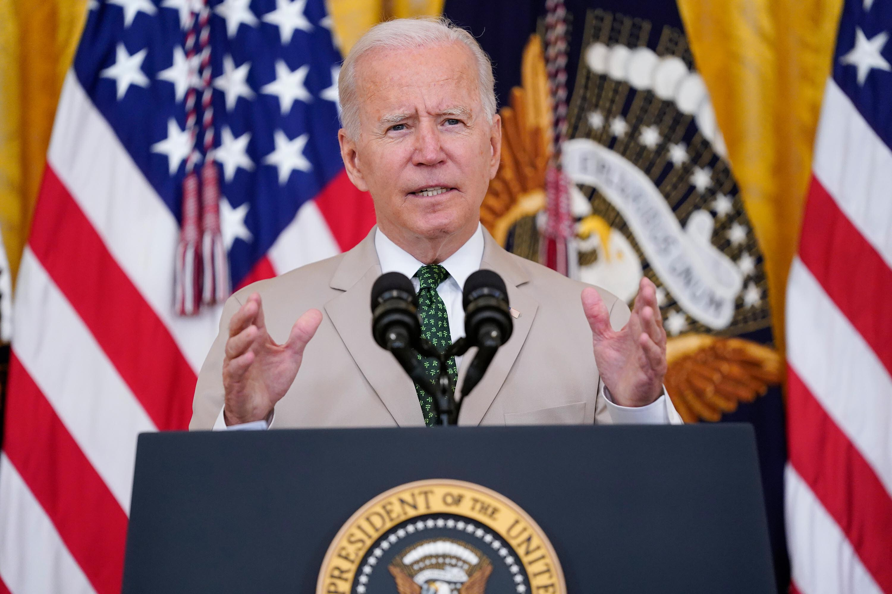 Biden touts economic recovery but warns of Delta after US added 943,000 jobs in July