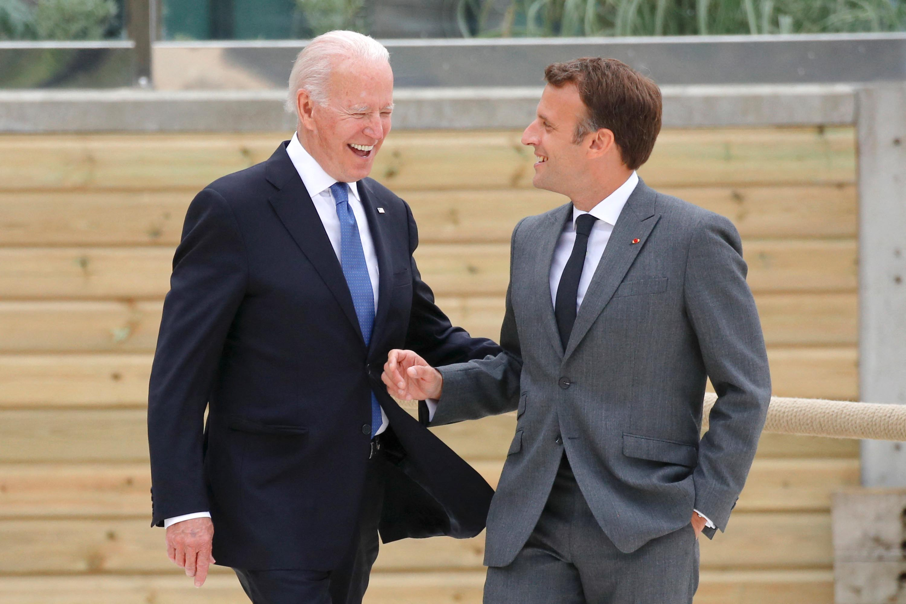 Macron says Biden is 'part of the club' at the G7 in leaders' first formal meeting