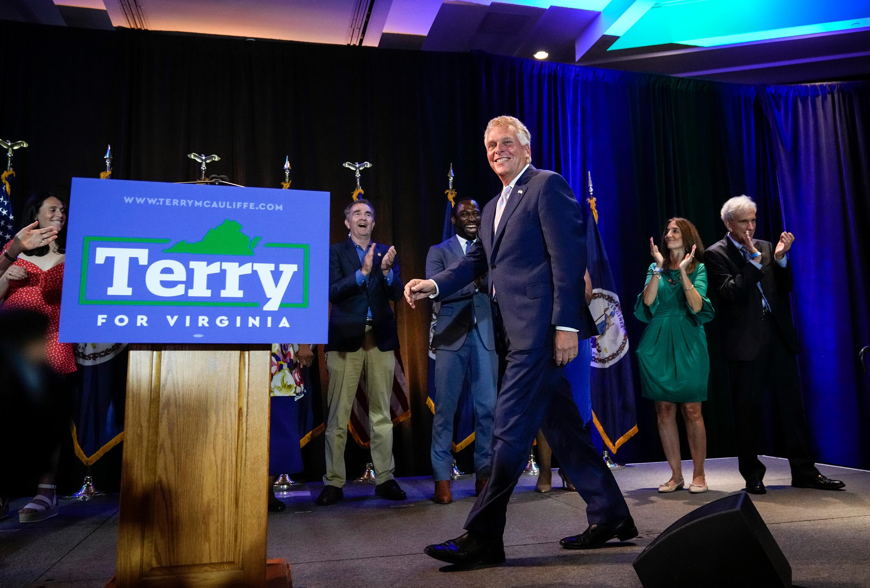 Biden jumps backs into campaigning with McAuliffe rally in Virginia