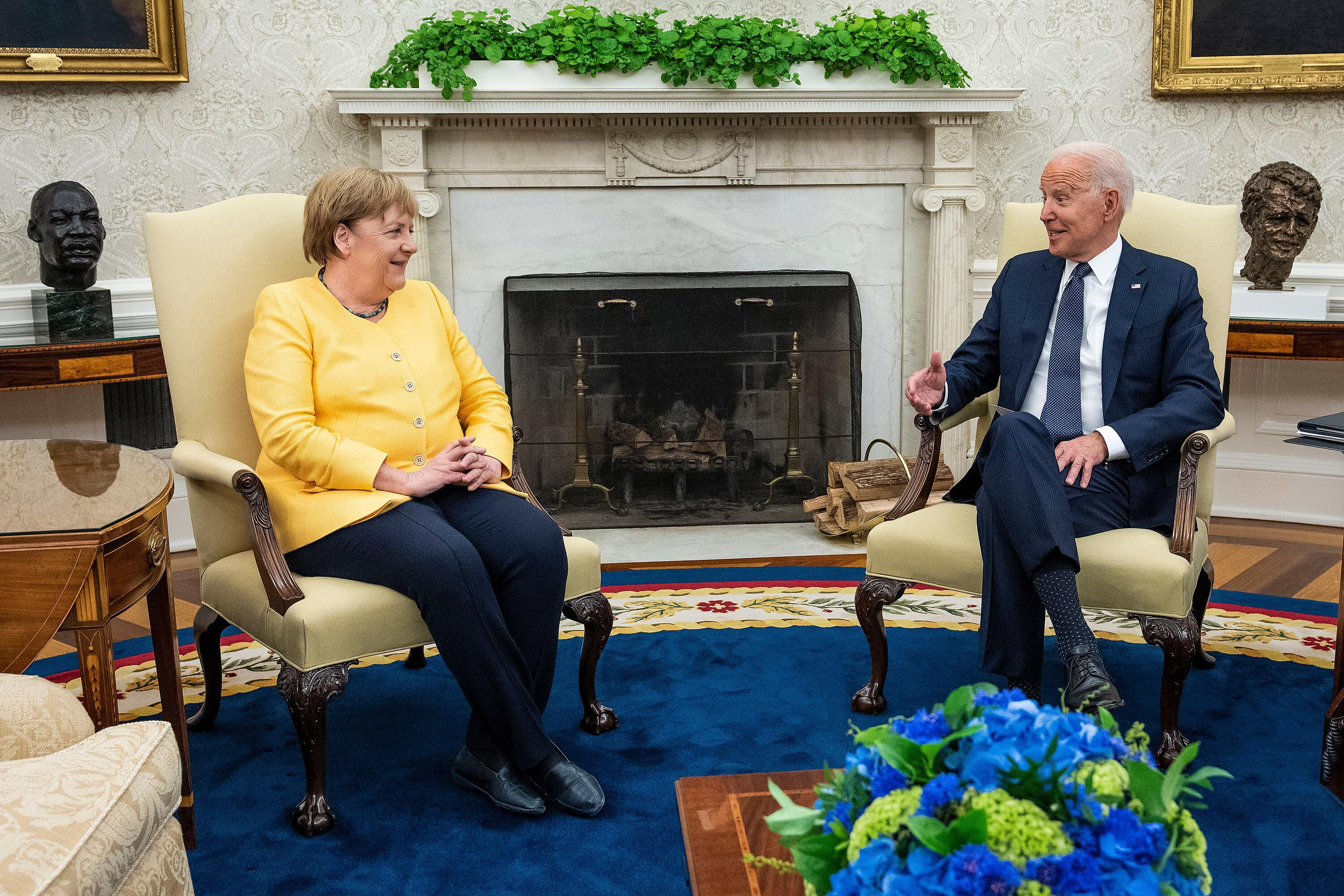 Merkel and Biden chart a course for the future of US-German relations in White House meeting