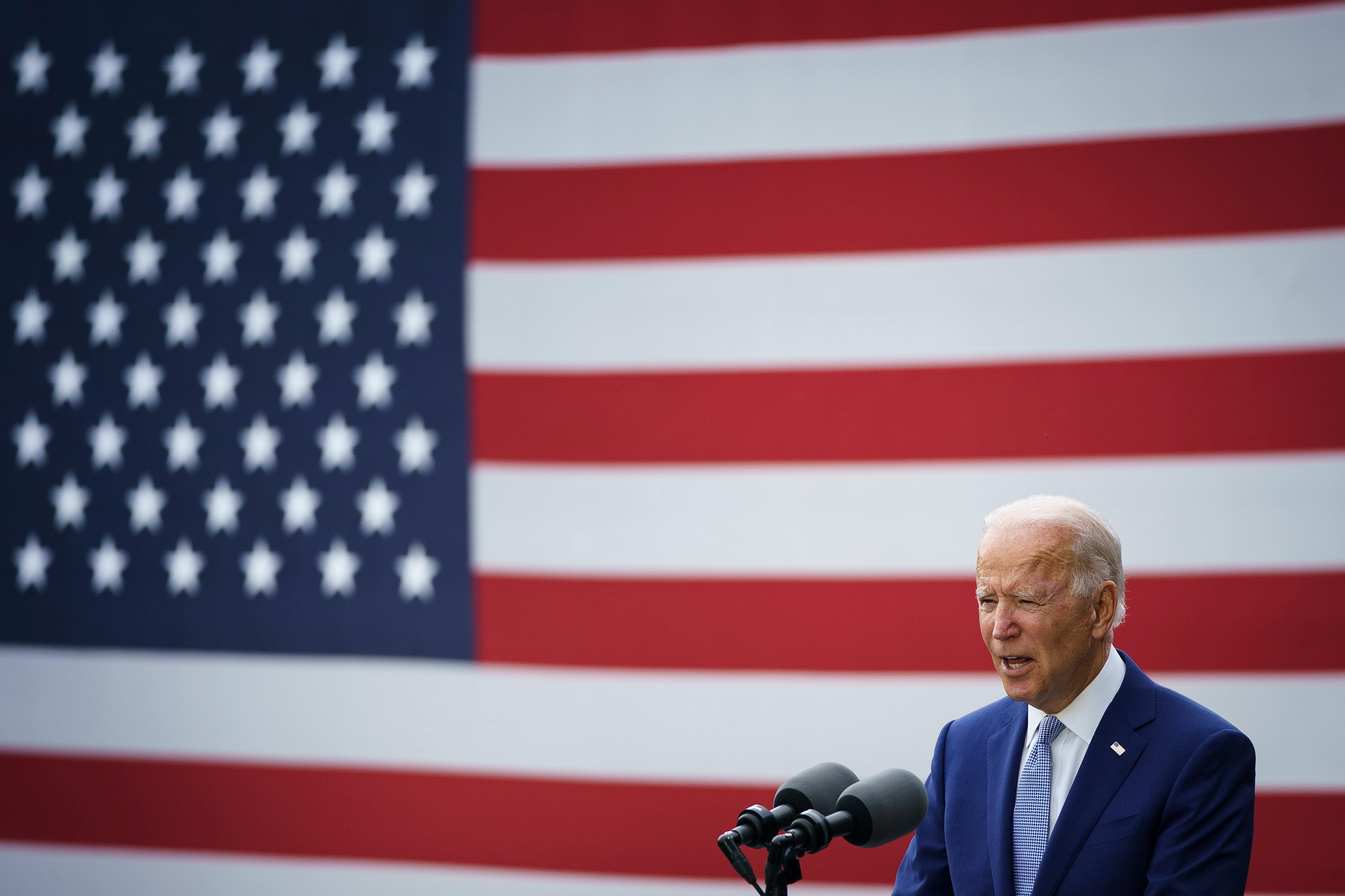 Biden is closing his campaign as he began it by telling voters 'soul of the nation' is at stake
